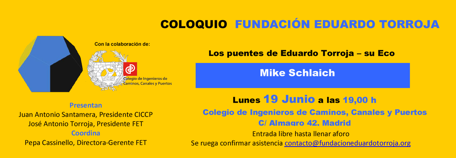 MIKE SCHLAICH CONFERENCIA 19 JUNIO COLEGIO CAMINOS